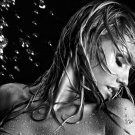 Hot Blonde Wet Girl Sexy Bw 32x24 Print Poster