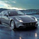 Ferrari Grey Rainy Sport Car 32x24 Print Poster