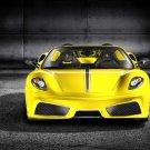 Ferrari Yellow Front Sport Car 32x24 Print Poster