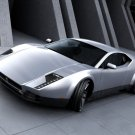 Panthera Silver Future Concept Car 32x24 Print POSTER