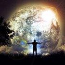 Freedom Night Moon Stars Art 32x24 Print POSTER