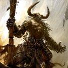 Minotaur Warrior Cave Fantasy Art 32x24 Print POSTER