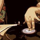 DJ Vinyl Disk Cool Art Style 32x24 Print POSTER