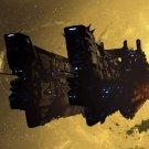 Spaceship Stars Nebula Fantasy Art 32x24 Print POSTER