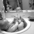Cute Little Baby Kid Child BW Cool 32x24 Print POSTER