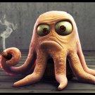 Octopus Smoking Cigar Rendering Art 32x24 Print POSTER