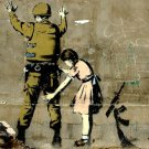Girl Searching Soldier Graffiti Cool 32x24 Print POSTER