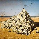 Hill Of Skulls Desert Crows Art Cool 32x24 Print Poster