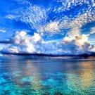 Low Cloud Ocean Coral Reef Landscape 32x24 Print POSTER