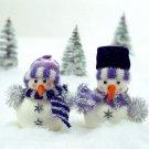 Small Snowmen Christmas Trees 32x24 Print POSTER