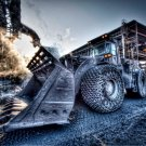 Excavator Cool Power Car Auto 32x24 Print Poster