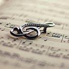 Treble Clef Musical Symbol Macro 32x24 Print POSTER
