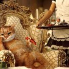 Royal Cat Sausage Maid Funny 32x24 Print POSTER