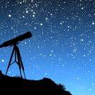 Telescope Hill Night Stars Space 32x24 Print POSTER