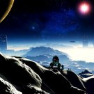 Planet Colony Station Futuristic Space 32x24 Print POSTER