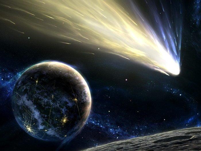 Comet Futuristic Planet Space 32x24 Print POSTER