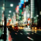 Night City Lights Focus Street 32x24 Print Poster
