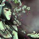 Sakura Petals Hot Girl Anime Art 32x24 Print Poster