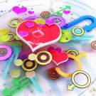 Love Hearts Colors Abstraction 32x24 Print Poster