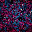 I LOVE NERDS Characters Abstraction 32x24 Print Poster