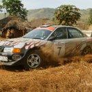 Mitsubishi Rally Dirt Africa Cars 32x24 Print Poster