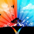 War And Peace Cool Art 32x24 Print Poster