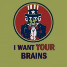I Want Your Brains Zombie 32x24 Print Poster