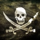 Jolly Roger Black Flag Death Skull 32x24 Print Poster