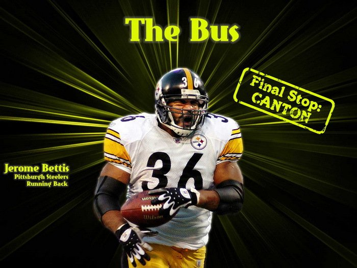 Jerome Bettis The Bus Steelers NFL 32x24 Print Poster