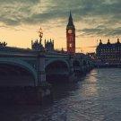 London At Dusk Bridge 32x24 Print POSTER