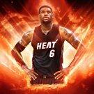 LeBron James Miami Heat Basketball Sport 32x24 Print POSTER