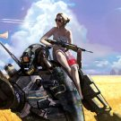 Hot Pin Up Girl Mech Fantasy Painting Art 32x24 Print Poster