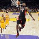 Lebron James Dunk Vs Lakers NBA 32x24 Print Poster