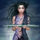 Fantasy Scroll Hot Girl Artwork 32x24 Print Poster