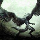 Werewolf Wings Dark Fantasy Monster Artwork 32x24 Print Poster