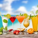 Cocktails Beach Drink Food Macro 32x24 Print Poster