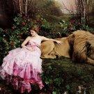 Fairy Tale Lion Cool Photo Art 32x24 Print Poster