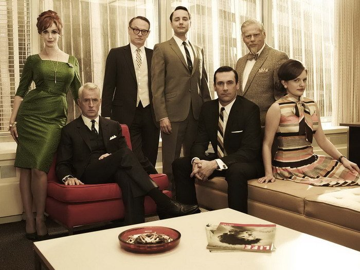 Mad Men Cast Characters TV Series 32x24 Print Poster