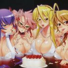 Strawberry Cake Highschool Of The Dead 32x24 Print Poster