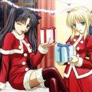 Fate Stay Night Christmas Art 32x24 Print Poster