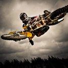 Motocross Bike Jump 32x24 Print Poster