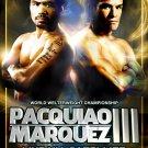 Juan Manuel Marquez Vs Manny Pacquiao 32x24 Print Poster