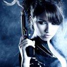 Hot Girl With Guns Weapon Smoke 32x24 Print Poster