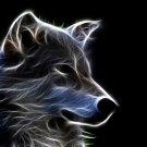 Wolf Amazing Fractal Light Art 32x24 Print Poster