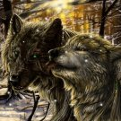 Wolves Scars Awesome Painting Art 32x24 Print Poster
