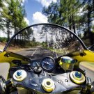 Motorcycle Bike POV Speed Road 32x24 Print Poster