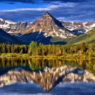 Mountain Landscape Lake Reflection Nature 32x24 Print Poster