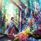 Girl Traditional Japanese Anime Art 32x24 Print Poster