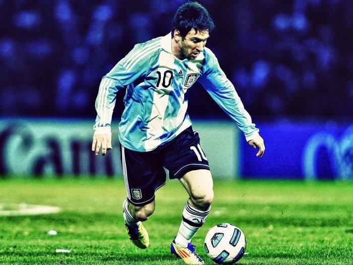 Lionel Messi Argentina Soccer Sport 32x24 Print Poster