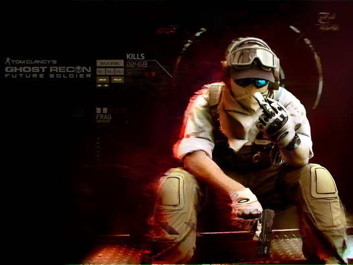 Ghost Recon Future Soldier Video Game 32x24 Print Poster